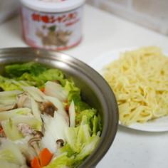 豚肉と白菜のミルフィーユ鍋→〆はラーメン