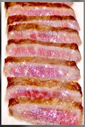 元ハンバーグ職人の牛ステーキの昆布締め