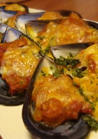 ✿ムール貝のトマトチーズ焼き✿