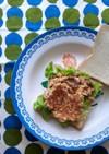 納豆オムレツのふんわりサンドイッチ