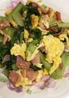 小松菜のベーコンエッグ