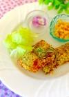 鮭のハニーマスタードパン粉焼き♬
