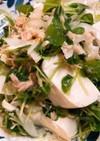 豆苗とツナ、豆腐のサラダ
