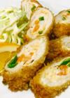 ♪鶏胸肉の簡単な野菜ロール巻きフライ 旨