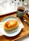 チーズ蒸しケーキの☆メープルシロップ焼き