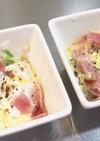 レンジで超簡単キャベツベーコン卵のサラダ
