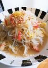 【作り置き】レンジで簡単。白菜と春雨炒め