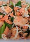 鮭とシラスと小松菜和え