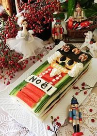 クリスマスくるみ割り人形のサンドイッチ