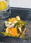 小松菜を使った五目煮浸し