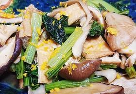 小松菜と茸の煮浸し