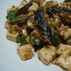豆腐となすの味噌炒め