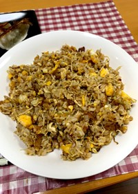 糖質0麺と市販炒飯の素でチャーハン