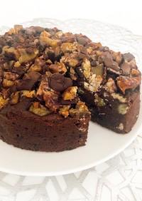 簡単☆ごろっと栗のチョコレートケーキ