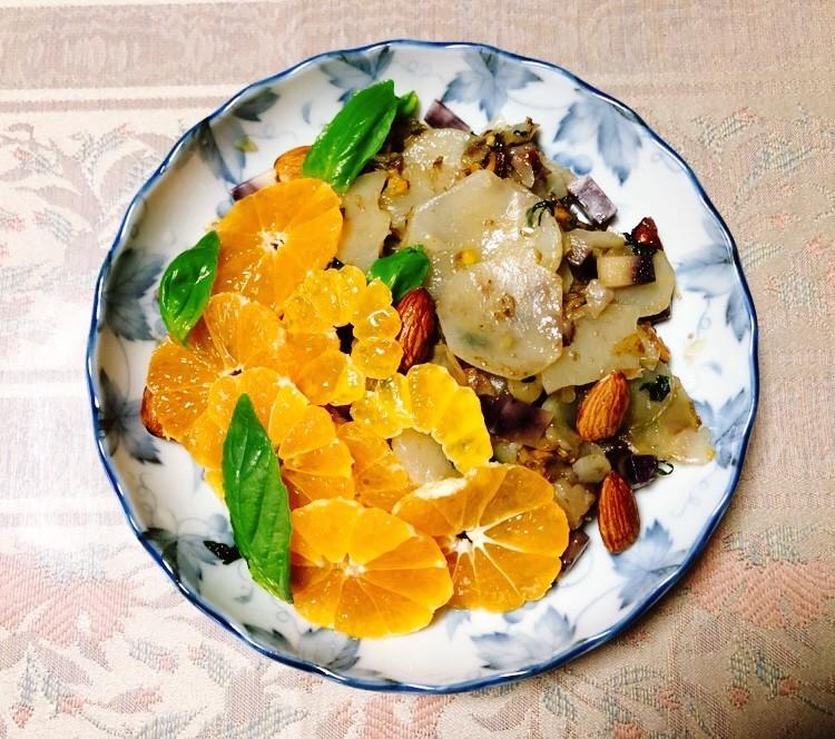 菊芋とオレンジの温サラダ