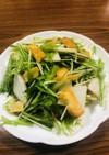 簡単!京みず菜と大根の香りサラダ