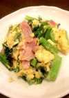 簡単お弁当おかず♪小松菜の卵炒め中華風♪