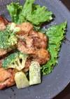 鶏のからあげとブロッコリーのチリマヨ和え
