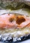 簡単!秋鮭のニンニクバターホイル焼き