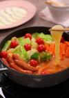 のびうまモッツァレラのトマト鍋