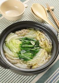 白菜のスタミナ豚ミルフィーユ鍋
