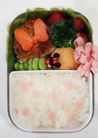 初めての幼稚園ミニーチャン風お弁当☆