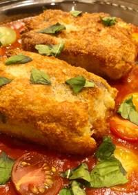 低温調理カツレツのカラフルトマトソース