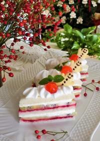 クリスマスレアチーズケーキ風サンドイッチ