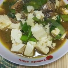 鯖缶と豆腐のカレー煮