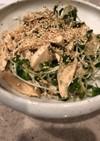簡単 ささみとかいわれの中華風サラダ