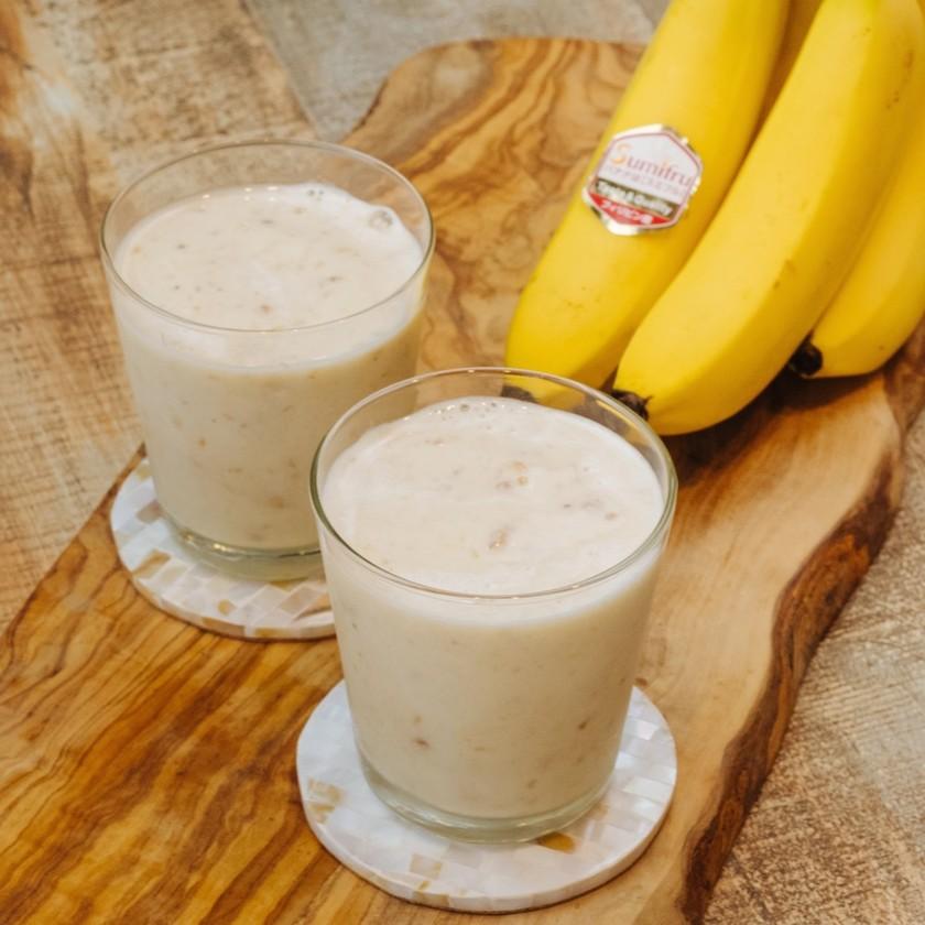 冷凍バナナと牛乳だけ!濃厚バナナジュース