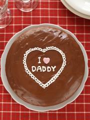 I♡DADDY チョコレートケーキの写真