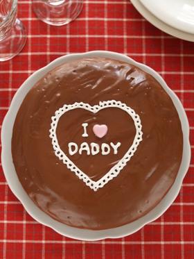 I♡DADDY チョコレートケーキ