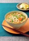 蓮根とひき肉のあんかけ温麺(うーめん)