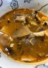鯖缶とジャガイモの味噌汁ほっこりキムチ味