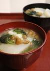 朝夕♪蕪・レンジじゃが芋・ナメコの味噌汁