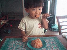子供に野菜を食べさせよ~野菜たっぷりチャーハン編