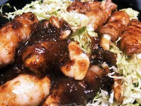 【バカ料理】鶏肉の豚肉巻き ぽん酢ソース