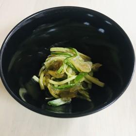 簡単副菜☆きゅうりと中華くらげの和え物☆