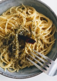 大量のお湯不要。煮る、ペペロンチーノ!