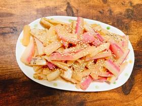 蓮根と大根の味噌生姜炒め煮