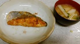 ❄鮭のムニエル&大根の味噌汁❄