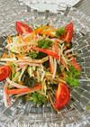 カニカマ と千切り野菜のサラダ