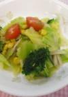 簡単給食 カラフルサラダ