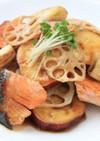 ほくほく、鮭と秋野菜の焼き浸し