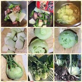 コールラビと菜の花炒め