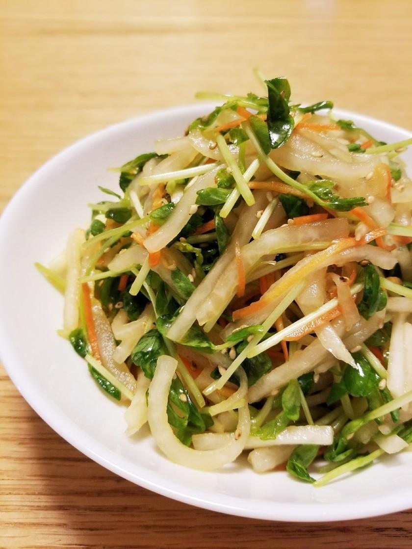 簡単副菜⭐大根と豆苗の中華サラダ