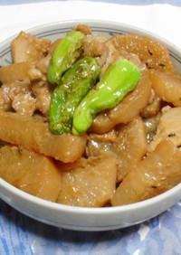鶏と大根のクミン炒め煮