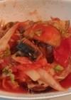 サバ缶とたっぷり野菜でヘルシー夜食