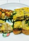 カレー味の野菜入り卵焼き